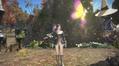 """""""Growing up"""" as a healer in FFXIV means you'll likely spend at least a short period wearing something along the lines of this embarrassing ensemble. It's not long after that you get your authentic White Mage robes, though."""