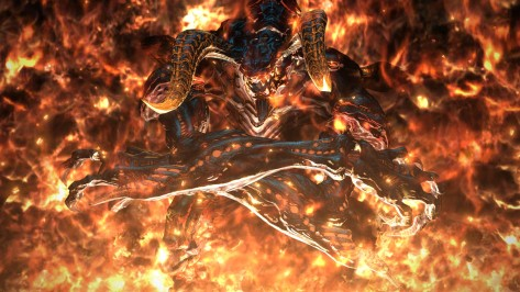 FFXIV does a great job of making its most powerful foes -- like Ifrit, seen here -- seem genuinely threatening. This didn't help my tanking anxiety.