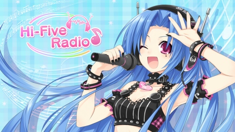 The game features personifications of not only games consoles, but game makers, too. This is 5pb., who hosts her own radio show throughout the game.