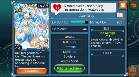 The Super Rare card Aurora is the pride and joy of my collection at present.
