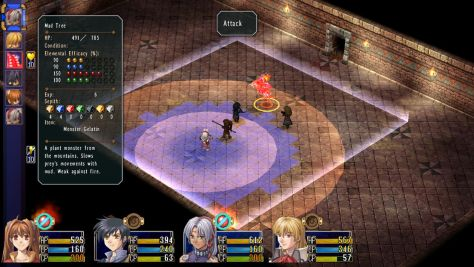 """The isometric, grid-based battle system is almost a """"strategy RPG lite"""" affair."""
