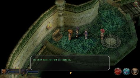 "Trails in the Sky has become somewhat notorious for its ""empty chest"" messages."