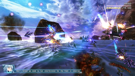 Astebreed's story is thrilling and enjoyable, but score attack purists can switch off the dialogue if they so desire.