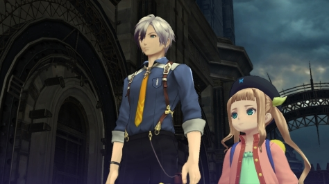 Ludger (left) is the rather quiet protagonist; his diminutive companion Elle (right) does more than enough talking for the both of them, though.