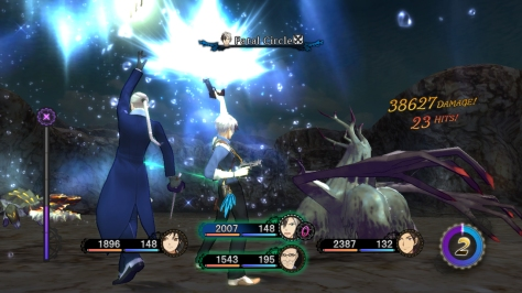 "The Link system, returning from Xillia 1, allows characters to cooperate in various ways. It really adds to the feeling of ""teamwork"" in battle."