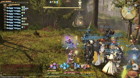 Not an unusual sight: a large group of players gathering to take down an A-rank hunt monster.
