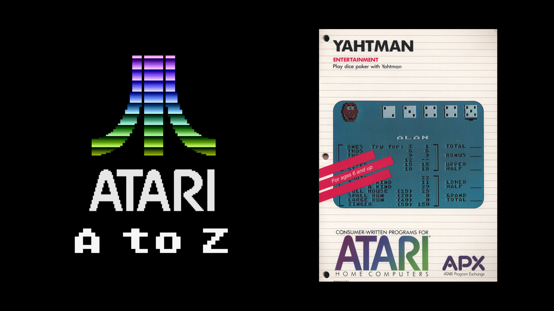 Atari A to Z: Yahtman | MoeGamer